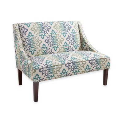 Madison Park Avalon Scroll Floral Loveseat Settee