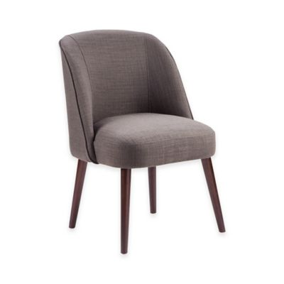 Madison Park Bexley Soft Rounded Back Dining Chair in Charcoal