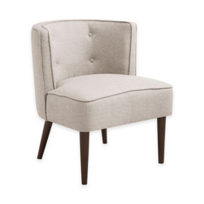 Sierra Button Tufted Curved Back Chair in Natural