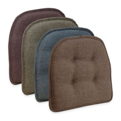 Klear Vu Tufted Thatcher Gripper® Chair Pad in Cafe