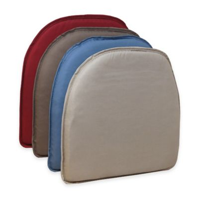 Klear Vu Essentials Twill Delightfill® Gripper® Chair Pad in Brownstone