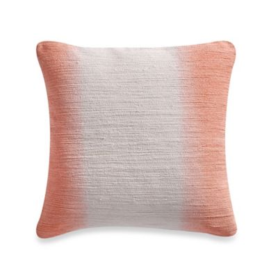Blink Papillon Square Throw Pillow in Pink/White