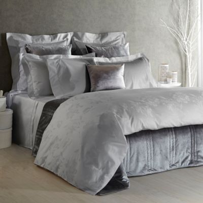 Frette At Home Giardino D'Inverno Queen Duvet Cover in Grey