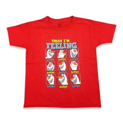 "FREEZE Disney® Size 2T Frozen ""Today I'm Feeling"" Olaf Shirt in Red"