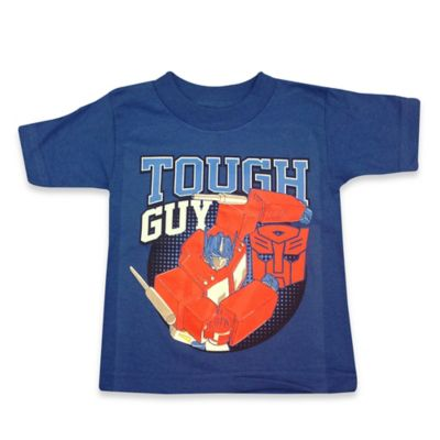 "FREEZE Transformers Size 2T Optimus Prime ""Tough Guy"" Shirt in Blue"