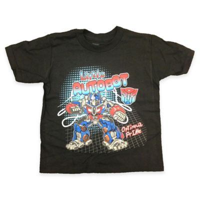"FREEZE Size 2T Transformers Optimus Prime ""Little Autobot"" Shirt in Black"