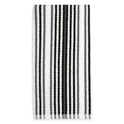 Kitchensmart® Cotton Stripe Kitchen Towel in Caviar Multi