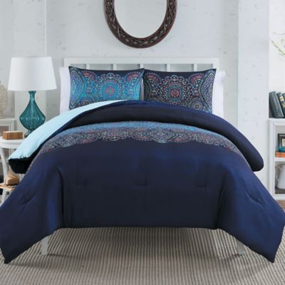 Darling 2-Piece Twin Comforter Set in Teal