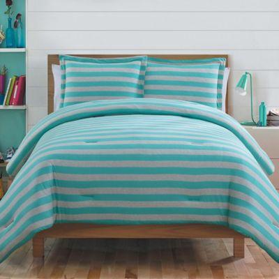 Ella 2-Piece Twin Comforter Set in Aqua