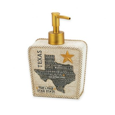 Avanti Texas Lone Star Lotion Dispenser in Beige