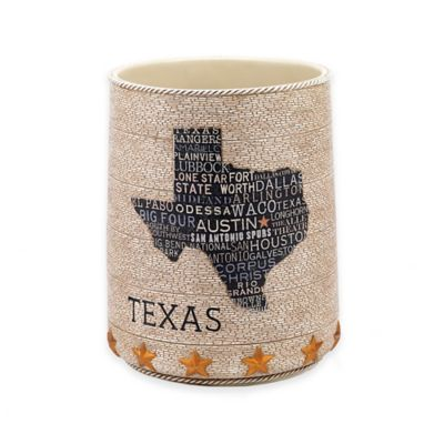 Avanti Texas Lone Star Wastebasket in Beige