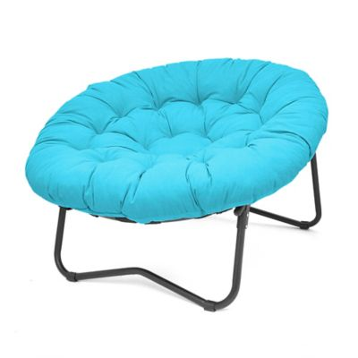 Foldable Oversized Papasan Chair in Red