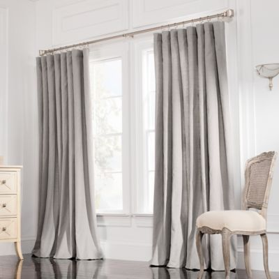 Valeron Estate Cotton Linen 108-Inch Double-Wide Window Curtain Panel in Steel Grey