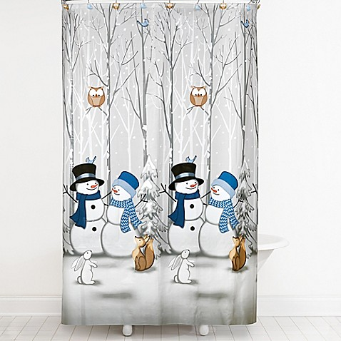 Winter Friends Shower Curtain And Hooks Set
