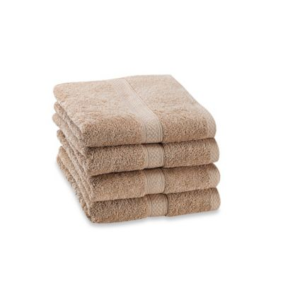 Paramount Hand Towels in Sand (Set of 4)