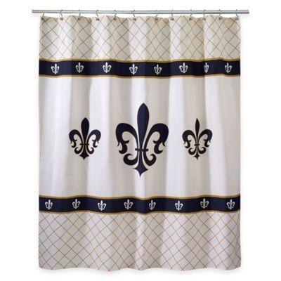 Avanti Luxemborg Fleur De Lis Shower Curtain