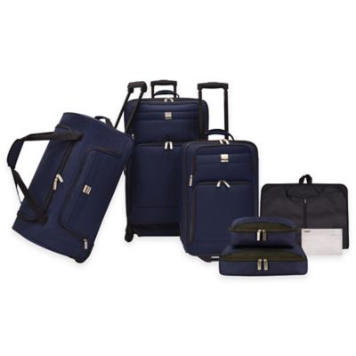 U.S. Traveler 7-Piece Luggage Set in Black