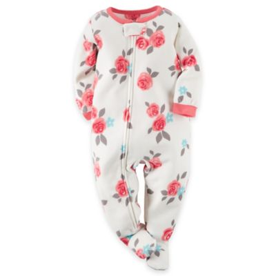Carter's® Size 18M Rose Footed Pajama in White