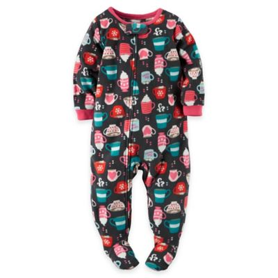 carter's® Size 12M Cappuccino Fleece Footed Pajama in Grey