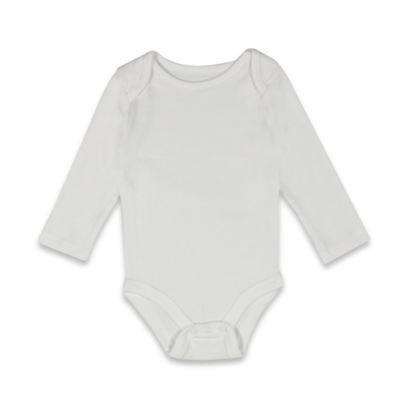 Mayfair Infants Wear Size 3-6M Long Sleeve Bodysuit in Neutral White