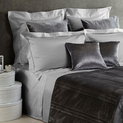 Frette At Home Realmonte European Pillow Sham in Grey