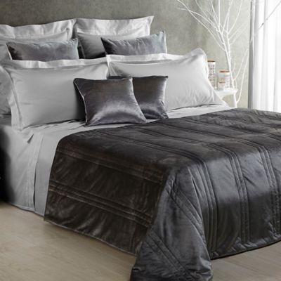 Frette At Home Realmonte Standard Pillow Sham in Grey