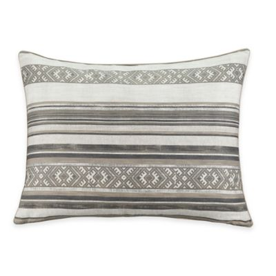 Aztec Stripe Standard Pillow Sham in Blue