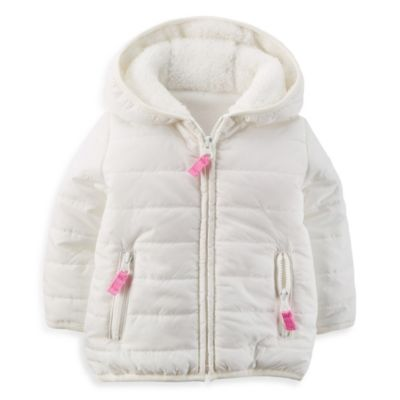 Carter's® Size 18M Puffer Fleece-Lined Jacket in Ivory