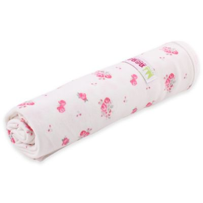 Minene One-Sided Summer Rose Blanket in Cream