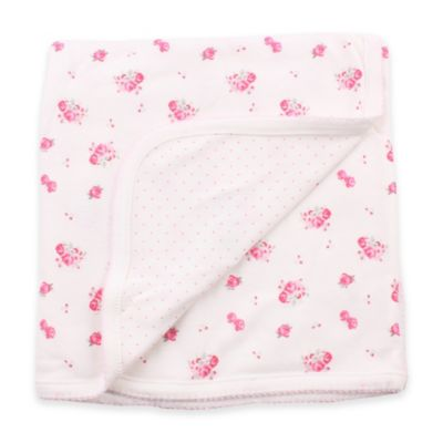 Minene Double-Sided Summer Rose Blanket in Cream