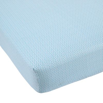 Balboa Baby® Mix & Match Cotton Sateen Fitted Crib Sheet in Aqua/White