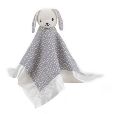 Balboa Baby® Bunny Security Blanket in Grey with White Dots