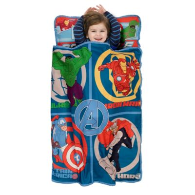 Baby Boom Avengers Assemble Toddler Nap Mat in Blue/Red