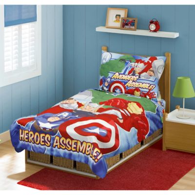 Avengers 4-Piece Toddler Bed Set