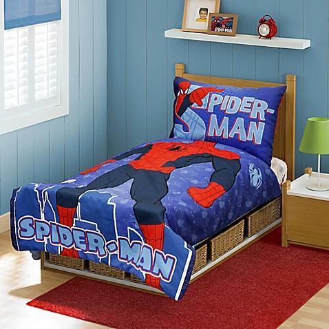 Spider Man 4 Piece Toddler Bed Set Www Bedbathandbeyond Com