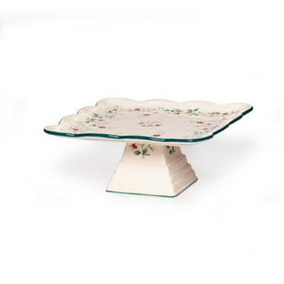 Pfaltzgraff® Winterberry Footed Square Cake Plate