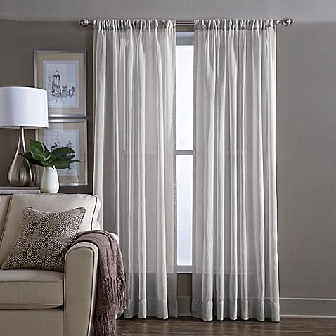 Buy Wamsutta 174 Sheer 108 Inch Window Curtain Panel In Grey