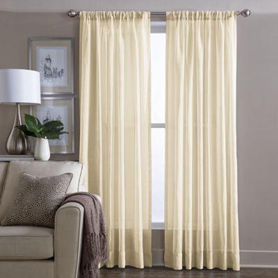 Sheer 108-Inch Window Curtain Panel in Yellow