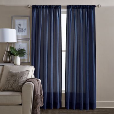Buy Navy Blue Curtains Window Treatments From Bed Bath