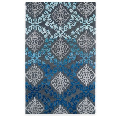 Kaleen Divine Medallion Damask 3-Foot 6-Inch x 5-Foot 6-Inch Area Rug in Ice