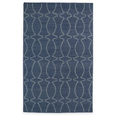 Kaleen Glam Pin Dot 5-Foot x 8-Foot Area Rug in Grey