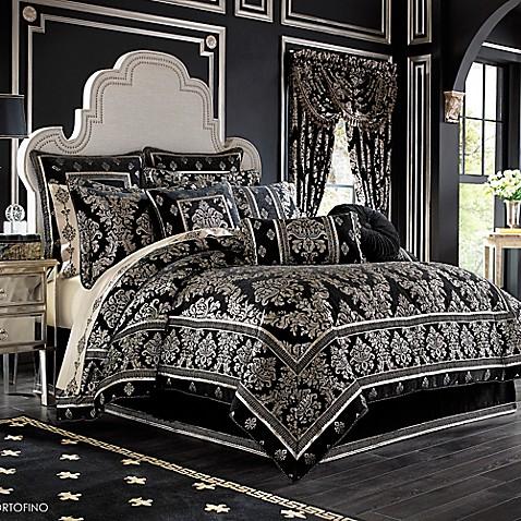 J Queen New York Portofino Comforter Set In Black Www