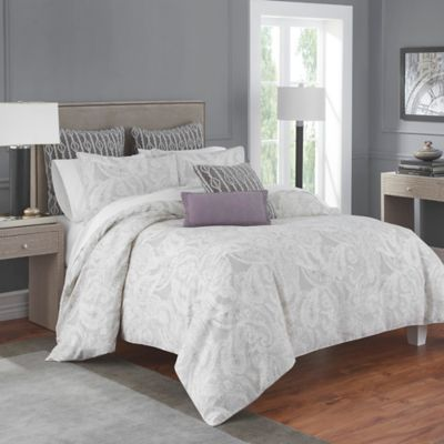 Flatiron® Linen Paisley King Comforter Set