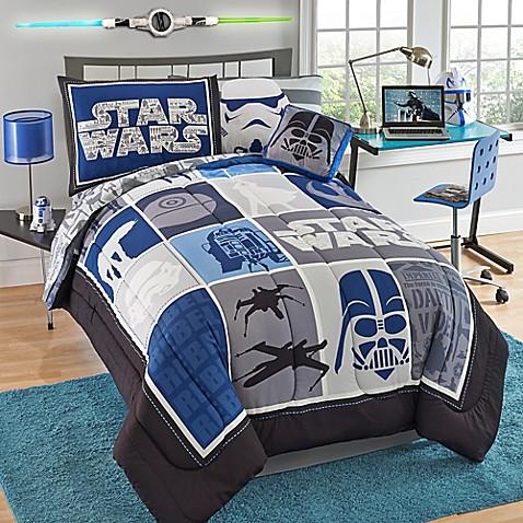 Star Wars Classic Reversible Comforter Set Bed Bath