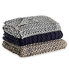 Kenneth Cole Reaction Home Chunky Knit Throw Bed Bath