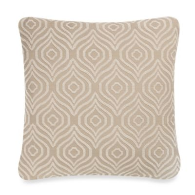 Axel Square Throw Pillow in Stone