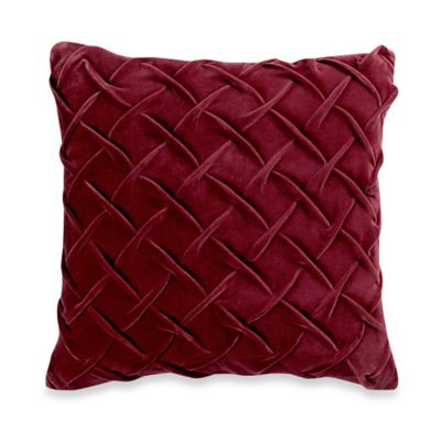Celeste Basket Weave 18-Inch Square Throw Pillow