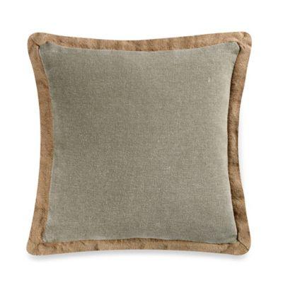 Floreana Square Throw Pillow in Mocha