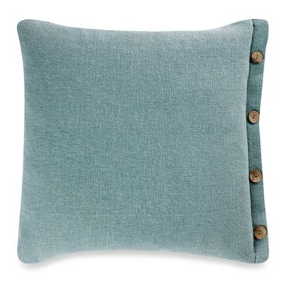Hanne 20-Inch Square Throw Pillow in Aqua