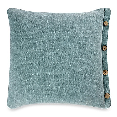 Buy Hanne 20-Inch Square Throw Pillow in Aqua from Bed Bath & Beyond